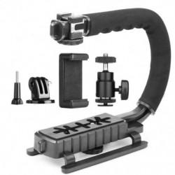 C típusú egylábú kézi fényképezőgép stabilizátor tartó markolatú vakutartó tartó A P2F0