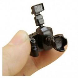 1/12 Dollhouse miniatűr játékkamera vakuval és lencsével, nem működő L4V4