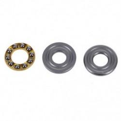 1X (19 mm x 8 mm x 7,2 mm ezüst hangú fém gömb nyomócsapágy U4O6)