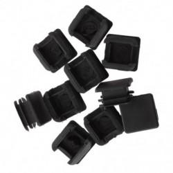 1X (25 mm x 25 mm-es műanyag négyzet alakú csőbetétek fedelének fedelének fedelére, fekete, 10 darab H9C2)