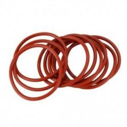1X (10 db 39x34x2,5 mm-es vörös szilikon O gyűrűs olajtömítések S5A3)