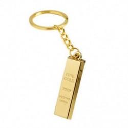 Faux 9999 miniatűr arany tónusú medál kulcstartó gyűrű I0A8