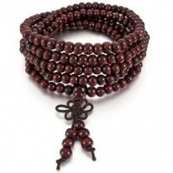6 mm-es nyaklánc tibeti piros szandál 216db gyöngy ima buddhista karkötő férfi, W Q4T6