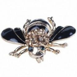 1X (magas minőségű méhek bross fekete zománc fűző sapkák sál klipek Accessori H3F2