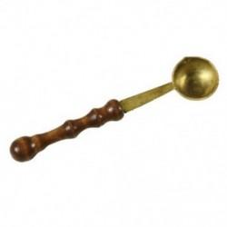 1X (Sárgaréz fakanál olvadt viaszra olvadt oldott pecsét pecsét borítékhoz A2J4