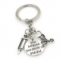 1X (fecskendő sztetoszkóp kulcstartó kulcstartó kulcstartó orvos nővér orvosok M O8K7