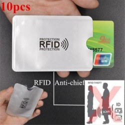10 db-os alumíniumfólia degasztálásgátló kártya borítója RFID árnyékolótáska NFC credi I5P7