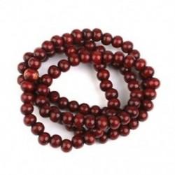 Fa imádságlánc 108 db Buddha buddhista Mala karkötő lilaszerű piros I3B9
