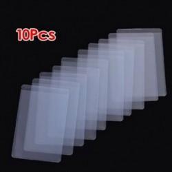 10 db puha, átlátszó műanyag kártya-hüvelyvédő, személyi igazolványokhoz, szalagkártyákhoz, Q9D1