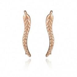Arany - Vintage ékszerek, gyönyörű leveles fülbevalók, modern, gyönyörű tollas fülbevalók Earri A1D2