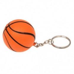 Narancssárga kosárlabda alakú dekoráció varázsa kulcstartó osztott kulcstartó U6X6