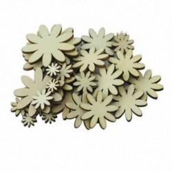 Csomagban 50 vegyes méretű, fából készült virág alakú díszítés a K9J9 barkácscsempék díszítéséhez