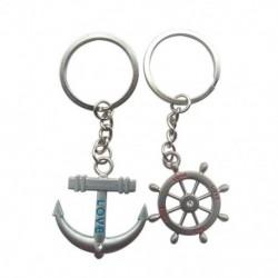 1X (pár tengeri kormánykerék rögzítő varázsa kulcstartó kulcstartó L4Y7)