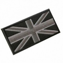 1X (FASHION Union Jack UK zászlójelű javítópálca vissza 10cm x 5cm ÚJ, (fekete S4V4