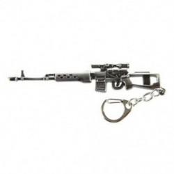 1X (Mini Dragunov mesterlövész pisztoly modell medál homár horog kulcstartó szürke Z9P8)
