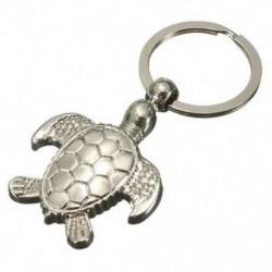 3D ezüst gyönyörű texturált tengeri teknős kulcstartó - fém kulcstartó kulcstartó kulcs G2U8
