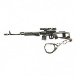 Mini Dragunov mesterlövész fegyver modell medál homár horog kulcstartó szürke P1P7