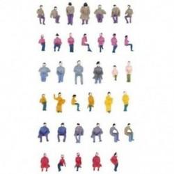 Ról ről. 50 x figurák utasok ülő festett miniatűr dekorációval az S H8H5 vonathoz
