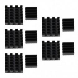 1X (10 db fekete alumínium hűtőborda hűtőkészlet Raspberry Pi 3, Pi 2 G2K4-hez)