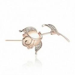 Opal rózsa virág bross Pin strassz ötvözet rózsa arany színű brossok Birth Z4K7