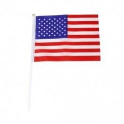 Sok 12db-es, 21x14 cm-es Mini American Flag zászló, piros és fehér   W3Q0 szőnyegekkel