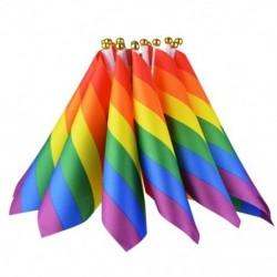 16 darab szivárvány zászló meleg büszkeség zászlók leszbikus béke Lgbt szivárvány zászló Bann Q6K8