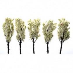 5db zöld táj tájképfák, fehér virággal 1: 100 K9M7 E3E4