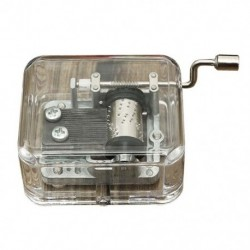 Mini zenedoboz zene doboz hordószervező kézikerekes hajtókar DIY 1 dallamok F C1A2