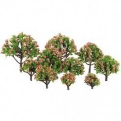 Műanyag őszibarack fák modell vasúti vasúti táj skála 1:75 - 1: 500 W1V3
