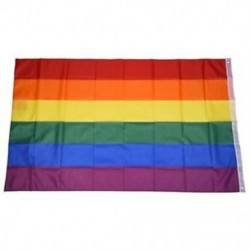 Gay Pride Rainbow Flag 5`x3` W7I7