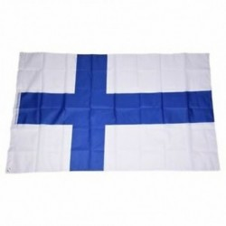 1X (Országos zászló 5 láb x 3 láb - Finnország K8C3)