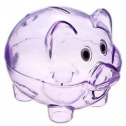 Aranyos műanyag malac átlátszó malacka bank érmedobozban pénzt megtakarító tok gyerekeknek O0S4