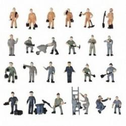 25db 1:87 Figurák Festett Ábrák Miniatúrák a vasúti dolgozókról Z9M4 X6A0