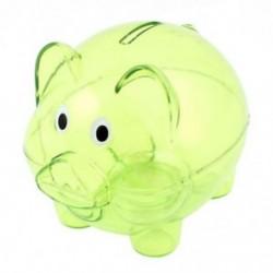 Műanyag gyűjthető malacka bank érme megtakarítási pénzt pénztárgép tiszta zöld C5Z8 Y1Y1