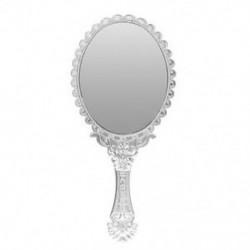 Hölgyek vintage repó virágos kézzel tartott ovális tükör sminkfodrász L8D8
