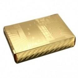 Arany fólia póker euró stílusú műanyag póker játékkártyák Vízálló kártyák Bo C8K1
