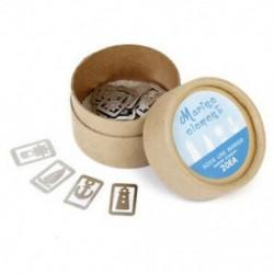 4X (klasszikus ezüst 20 db / dobozban 4 stílusú Metal Marker ajándéktárgyak oceJ2T1 dobozban