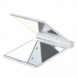 1X (LED zseb kézitáska Kompakt smink tükör, összecsukható fényszórókkal, kozmetikai h C6A3