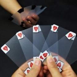 1X (kreatív átlátszó műanyag vízálló póker újszerű póker index Playin L2K8