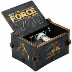 Új Black Star Wars zenei dobozos játék a trónok kastélyáról az égen. Kézi Cranke J6B6
