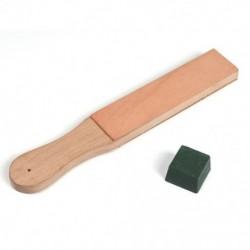 1X (Fa fogantyúval készült bőrélező hevederes kés borotvapolírozó tábla PoH7K3-val)