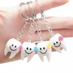 20 db kulcstartó kulcstartó függő fog alakú aranyos fogászati ajándék T7L5