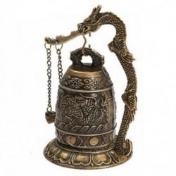 1X (Nemzeti Kézzel készített sárgaréz harang faragott sárkány buddhista buddhiai óra Bronz K4T4