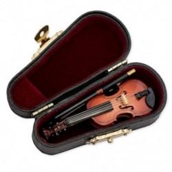 Ajándékok Miniatűr hegedűhangszer-replika, tokkal, 8x3cm O4H3