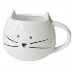 Kávéscsésze fekete macska állati tejcsésze kerámia szerelmeseinek bögre aranyos születésnapi ajándék, T6Z4