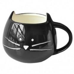 Kávéscsésze Fehér macska állati tejcsésze kerámia szerelmeseinek bögre Aranyos születésnapi ajándék, O4Z7