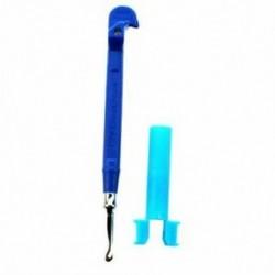 5X (Mini fém kampó (fém kötőtű) (kék) N6B8)