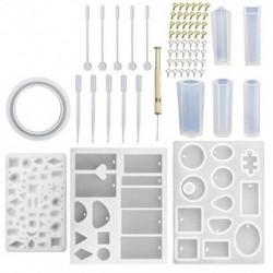 1X (62 db DIY karkötő medál ékszeröntő formák, szilikongyanta Jewelr D8A4