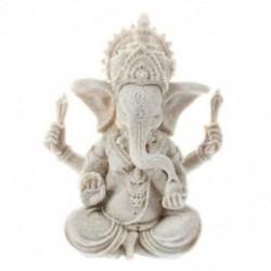 Homokkő Ganesha Buddha elefánt szobor szobor szobor kézzel készített alak P4I5