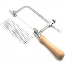 Professzionálisan állítható fűrész íj fából készült fogantyú ékszer fűrészkerettel T5I1